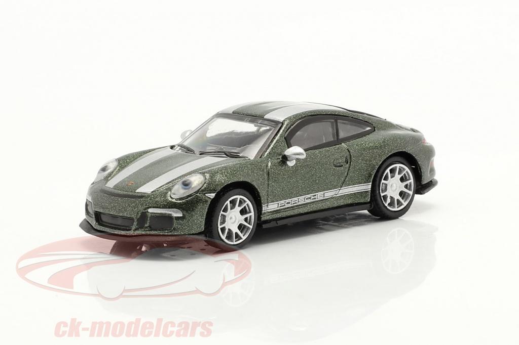 schuco-1-87-porsche-911-991-r-verde-metallico-452660100/