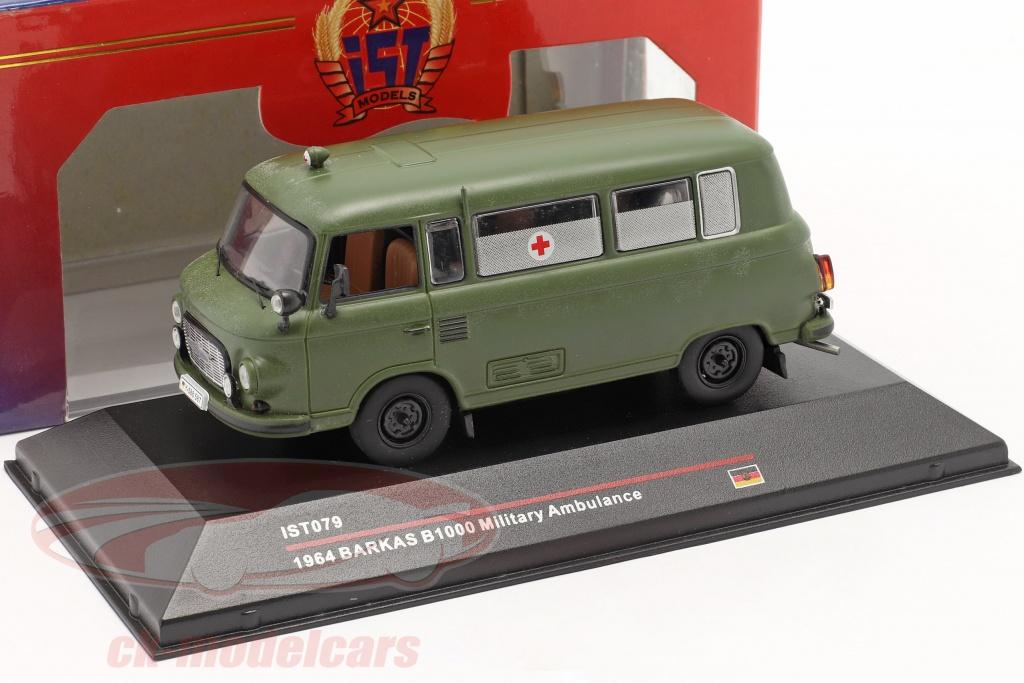 ist-models-1-43-barkas-b1000-leger-ambulance-jaar-1964-donker-olijf-ist079/