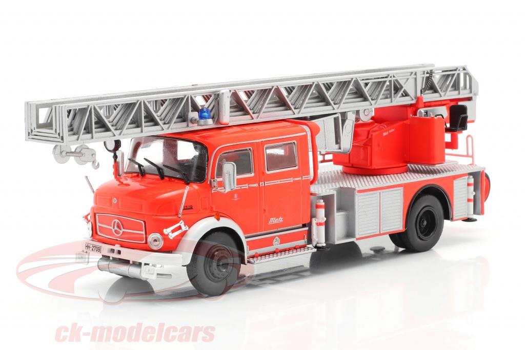 altaya-1-43-mercedes-benz-l1519-pompiers-avec-echelle-telescopique-rouge-argent-g190e004/