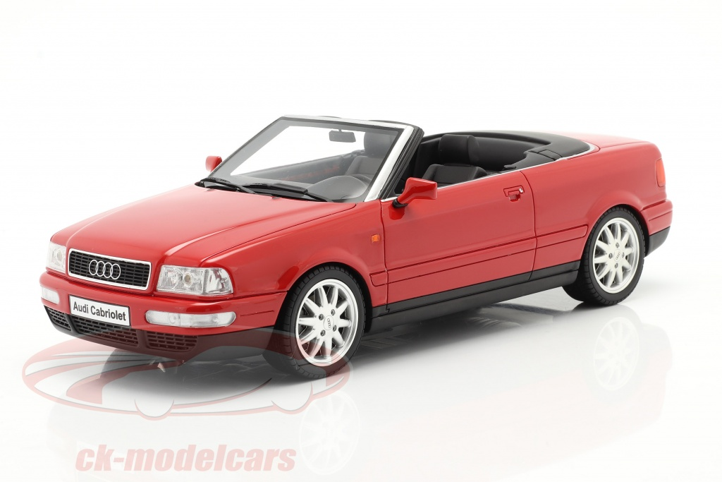ottomobile-1-18-audi-80-28l-b3-converteerbaar-bouwjaar-2000-laser-rood-ot931/