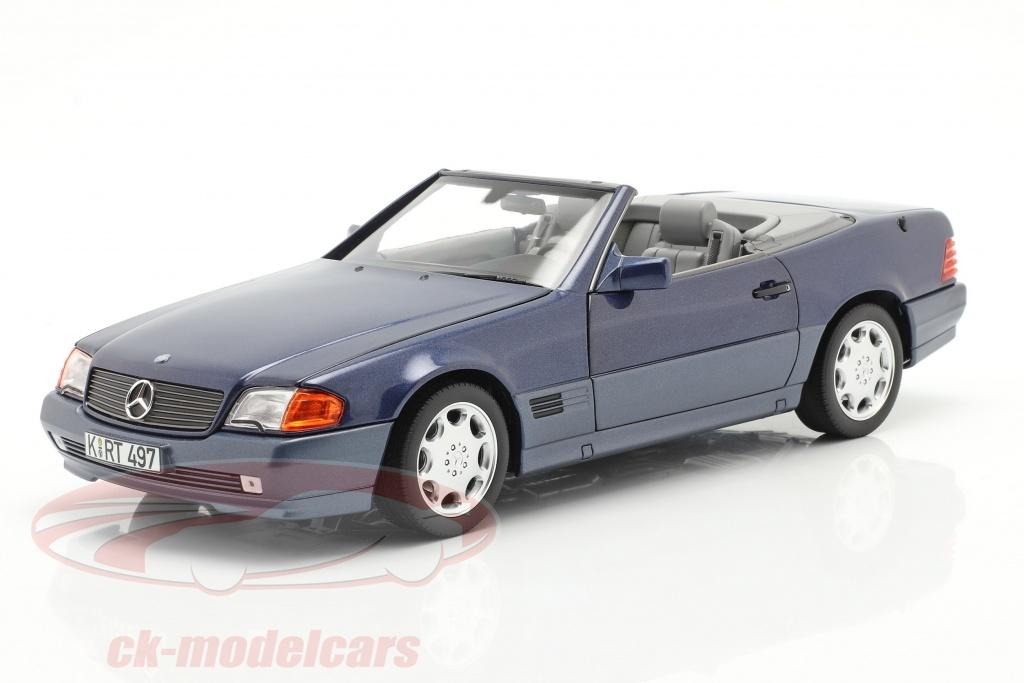 norev-1-18-mercedes-benz-500-sl-cabriolet-year-1989-blue-metallic-183717/