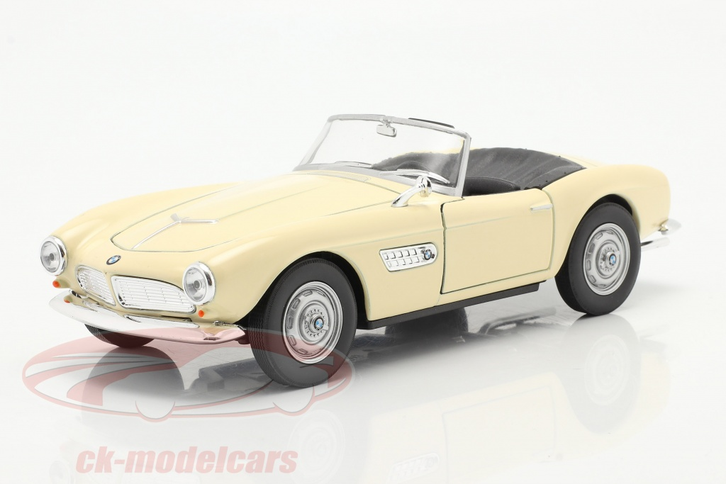 welly-1-24-bmw-507-convertible-open-top-creme-blanc-24097w/