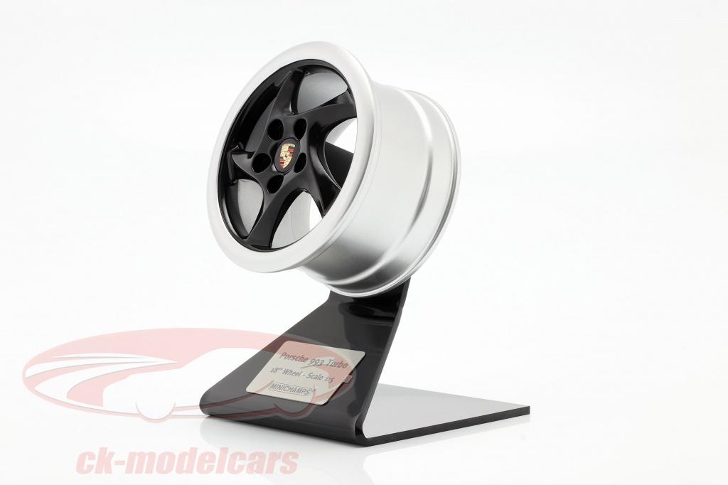 minichamps-1-5-porsche-911-993-turbo-1995-ruota-cerchio-18-inch-nero-argento-500601994/