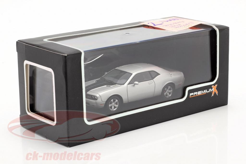 premium-x-1-43-dodge-challenger-srt8-jaar-2009-zilver-zwart-2e-keuze-ck67870-2-wahl/