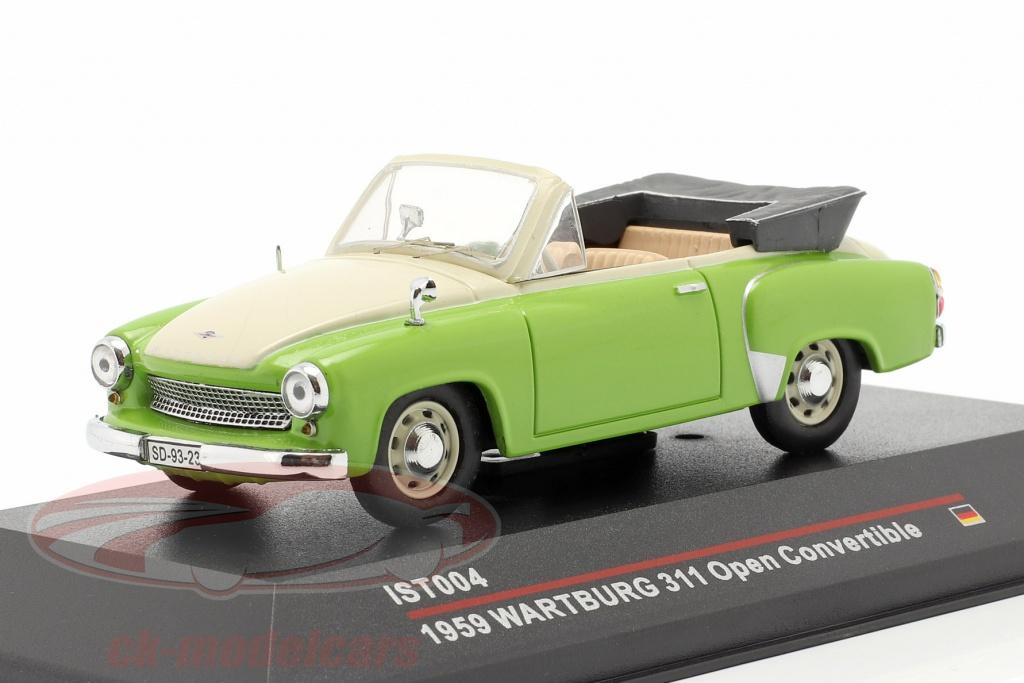 ist-models-1-43-wartburg-311-cabrio-jaar-1959-groen-romig-wit-ist004/