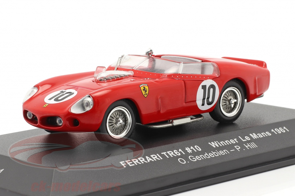ixo-1-43-ferrari-tri-61-no10-winner-24h-lemans-1961-gendebien-hill-lm1961/