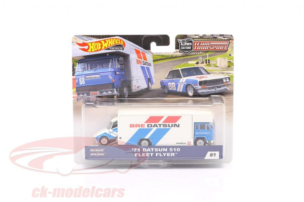 hotwheels-1-64-set-team-transport-datsun-510-1971-fleet-flyer-fyt12-no9-flf56/