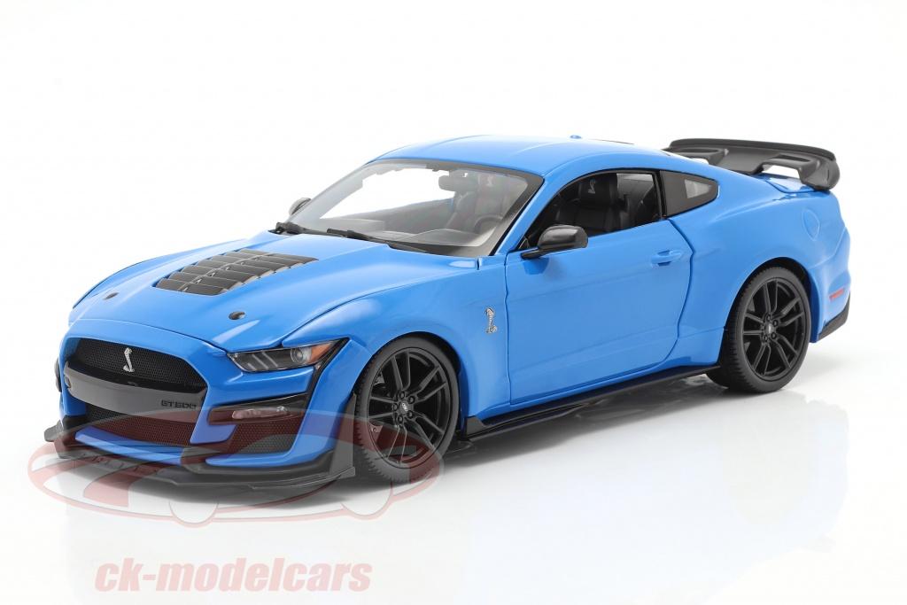 maisto-1-18-ford-mustang-shelby-gt500-bouwjaar-2020-blauw-31452b/