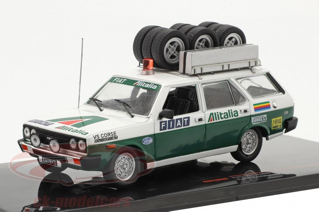 ixo-1-43-fiat-131-panorama-rallye-assistance-alitalia-1977-blanc-vert-rac305x/