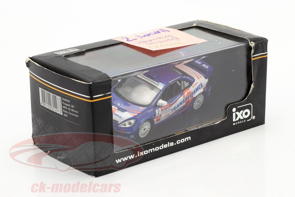 ixo-1-43-peugeot-307-wrc-no2-winnaar-rally-cevennes-2007-henry-lombard-2-keuze-ck67768-2-wahl/