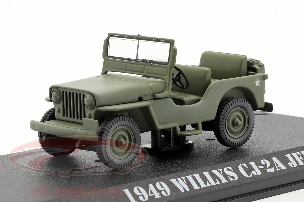 greenlight-1-43-willys-jeep-cj-2a-1949-series-televisees-mash-1972-83-olive-86592/