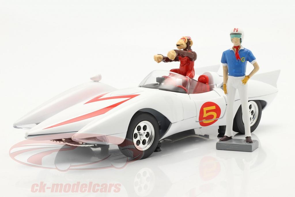 autoworld-1-18-speed-racer-mach-5-con-personaggi-serie-tv-di-animazione-1966-68-bianca-awss124/
