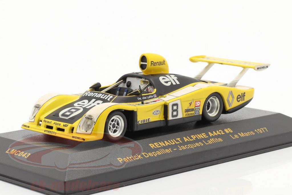 ixo-1-43-renault-alpine-a442-no8-lemans-1977-depailler-laffite-lmc043/