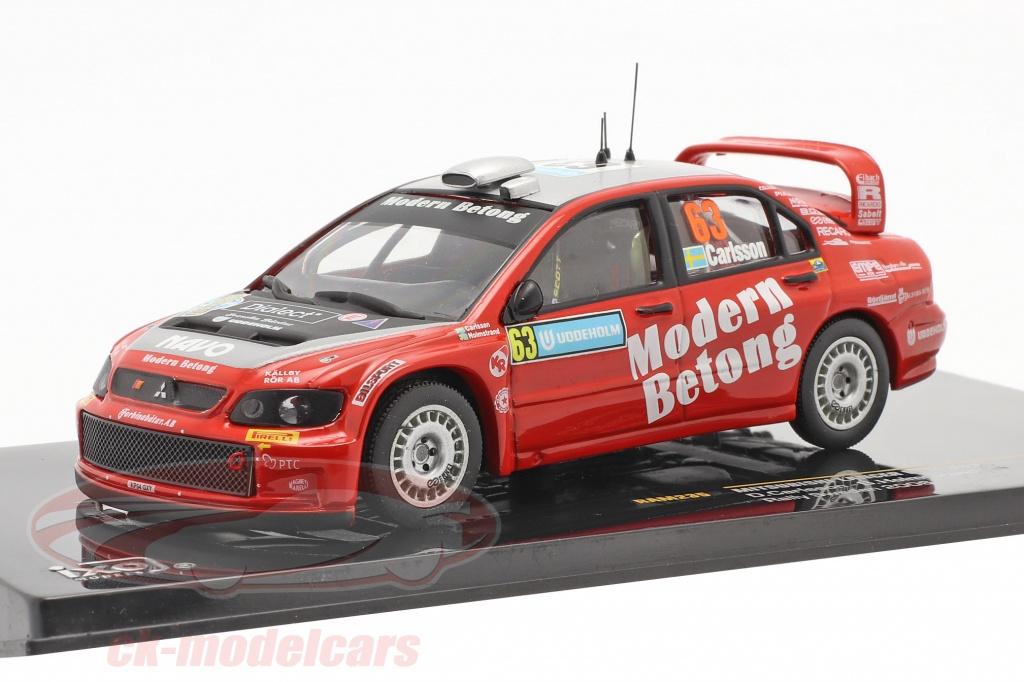 ixo-1-43-mitsubishi-lancer-wrc-no63-rallye-schweden-2006-carlsson-holmstrand-ram235/