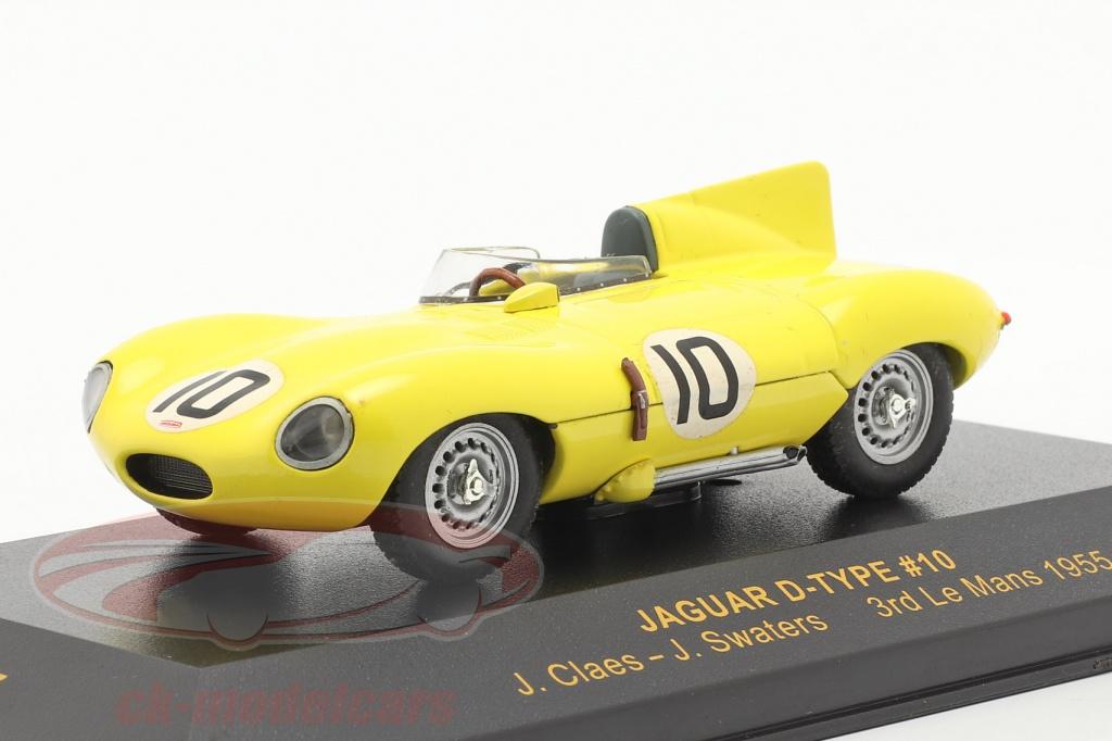 ixo-1-43-jaguar-d-type-no10-lemans-1955-claes-swaters-lmc037/