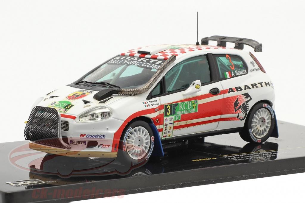 ixo-1-43-fiat-punto-s2000-no3-safari-rally-2007-damore-navarra-ram274/