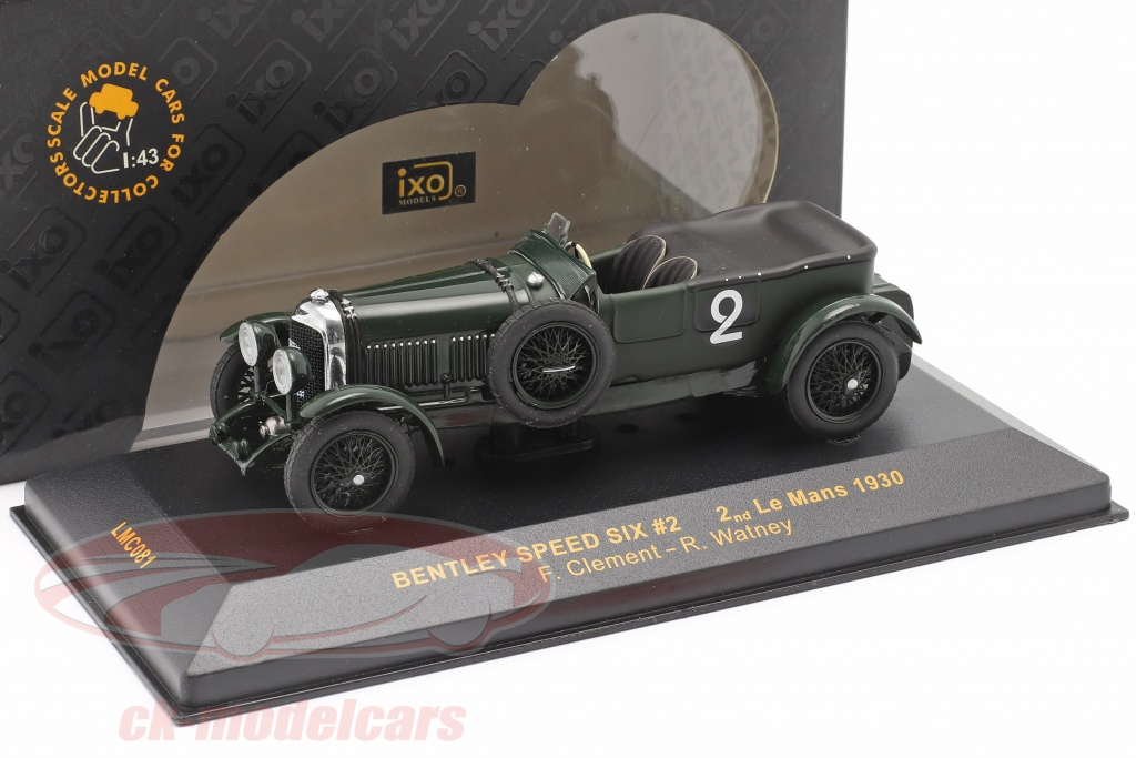 ixo-1-43-bentley-speed-six-no2-lemans-1930-clement-watney-2-choix-ck68083-2-wahl/