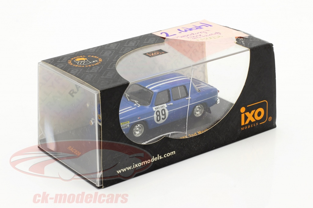 ixo-1-43-renault-8-gordini-no89-se-rallier-monte-carlo-1969-therier-callewaert-2-choix-ck68124-2-wahl/