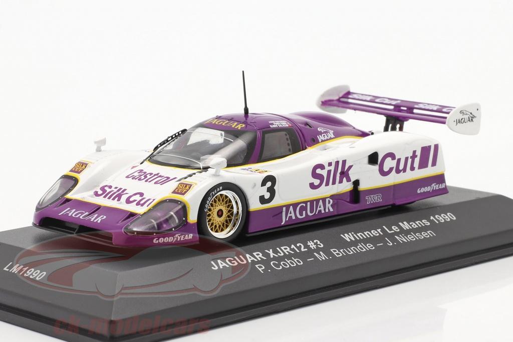ixo-1-43-jaguar-xjr-12-no3-winner-24h-lemans-1990-nielsen-cobb-brundle-lm1990/