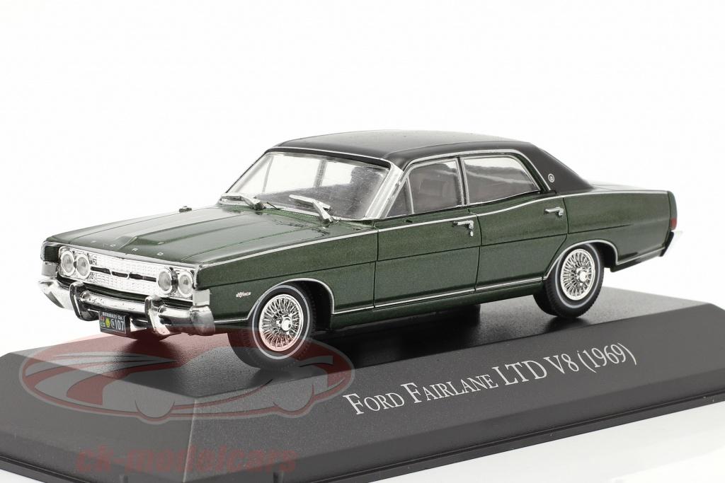 altaya-1-43-ford-fairlane-ltd-v8-annee-de-construction-1969-vert-fonce-magarg41/