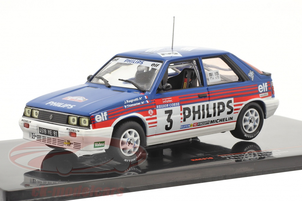 ixo-1-43-renault-11-turbo-no3-3e-rallye-tour-de-corse-1987-ragnotti-thimonier-rac310/