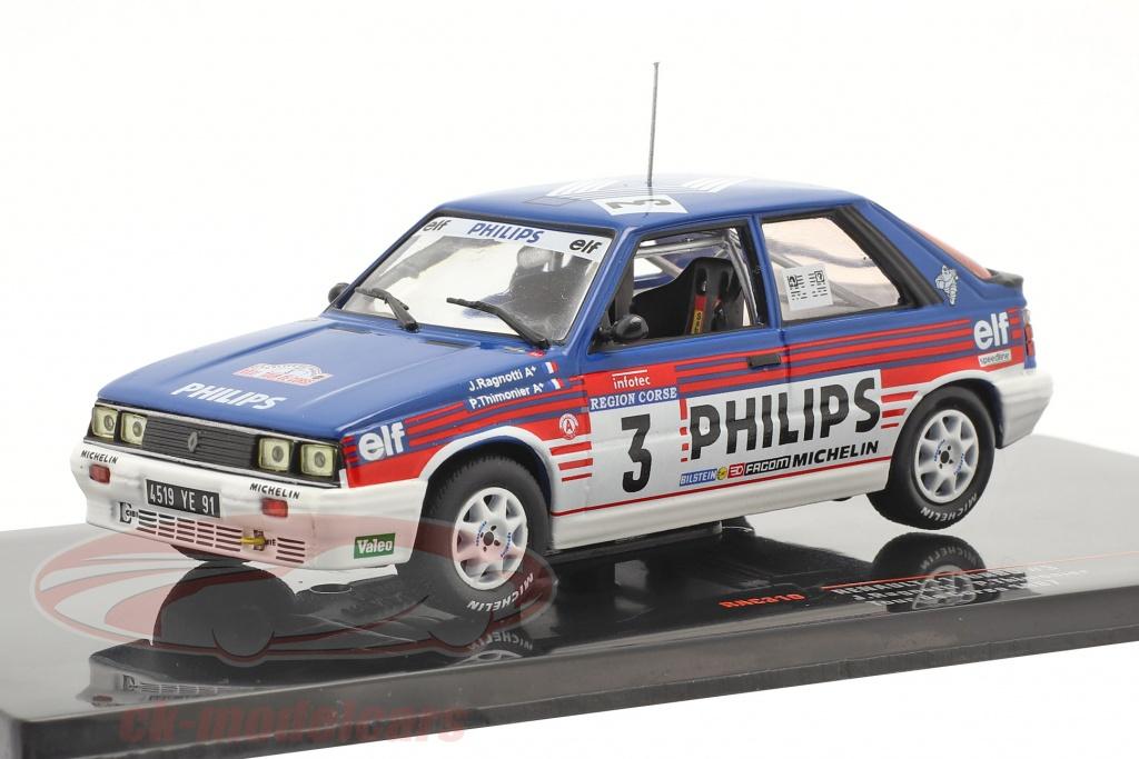 ixo-1-43-renault-11-turbo-no3-3rd-rallye-tour-de-corse-1987-ragnotti-thimonier-rac310/