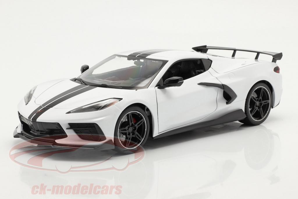 maisto-1-18-chevrolet-corvette-stingray-coupe-baujahr-2020-weiss-31455w/