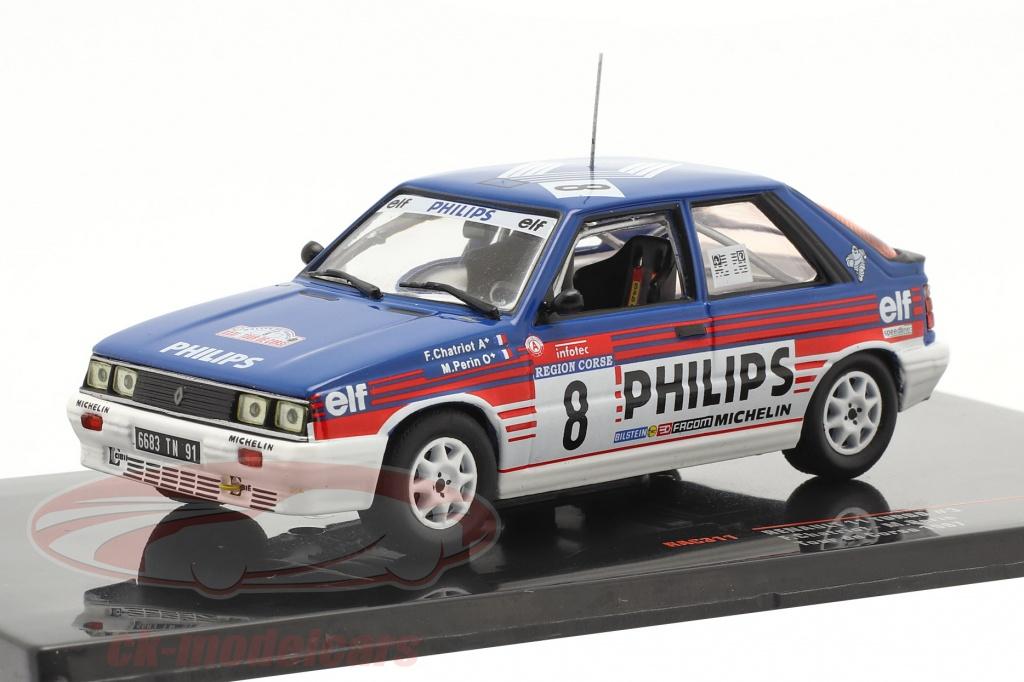 ixo-1-43-renault-11-turbo-no3-4-plads-rallye-tour-de-corse-1987-chatriot-perin-rac311/
