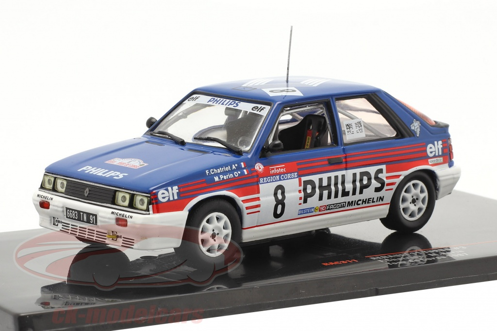 ixo-1-43-renault-11-turbo-no3-cuarto-rallye-tour-de-corse-1987-chatriot-perin-rac311/