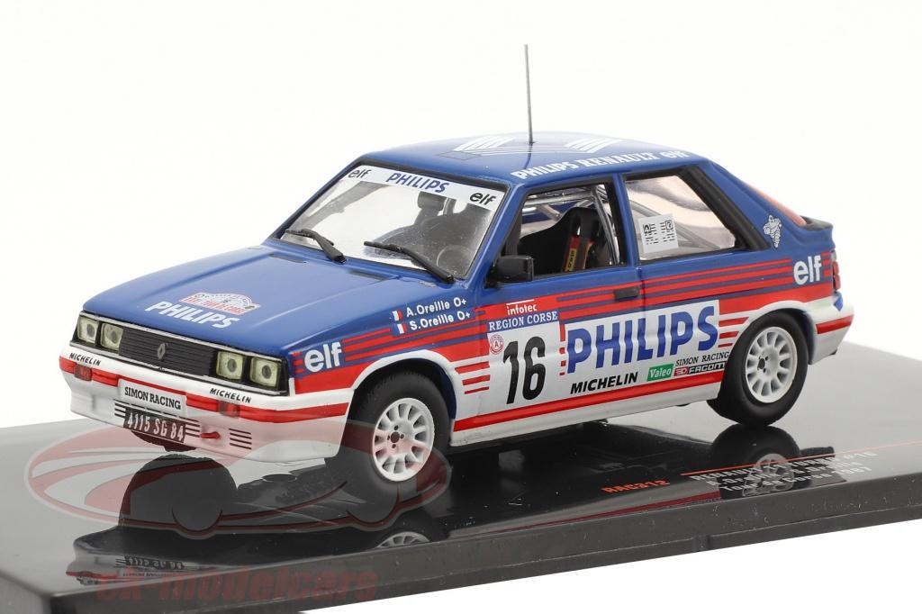 ixo-1-43-renault-11-turbo-no16-6th-rallye-tour-de-corse-1987-aoreille-soreille-rac312/