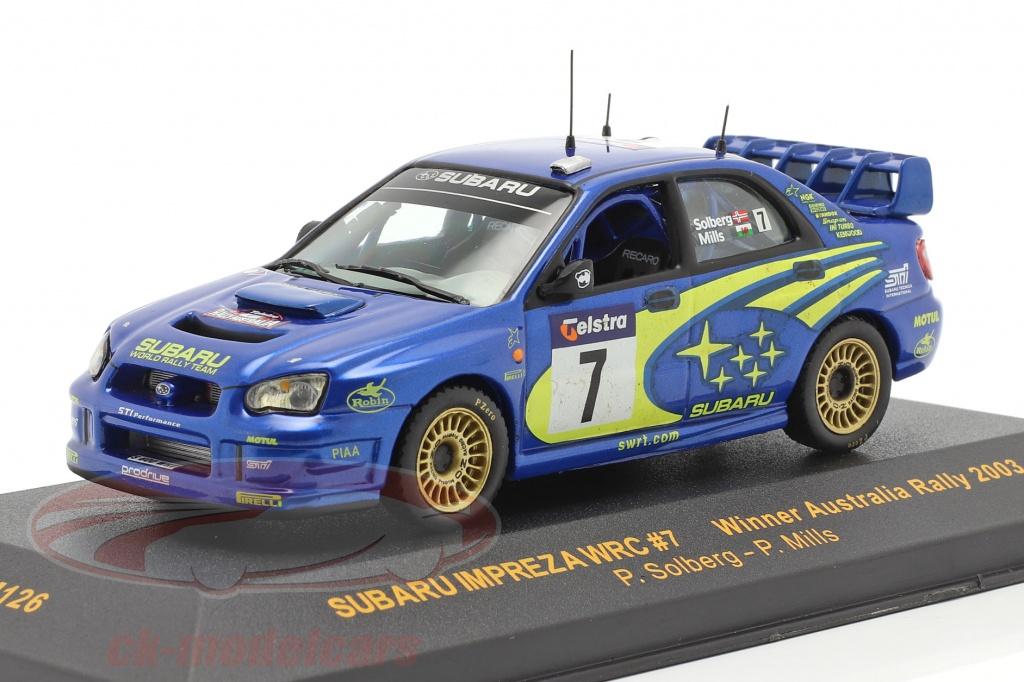 ixo-1-43-subaru-impreza-wrc-no7-vinder-australien-samle-2003-solberg-mills-ram126/