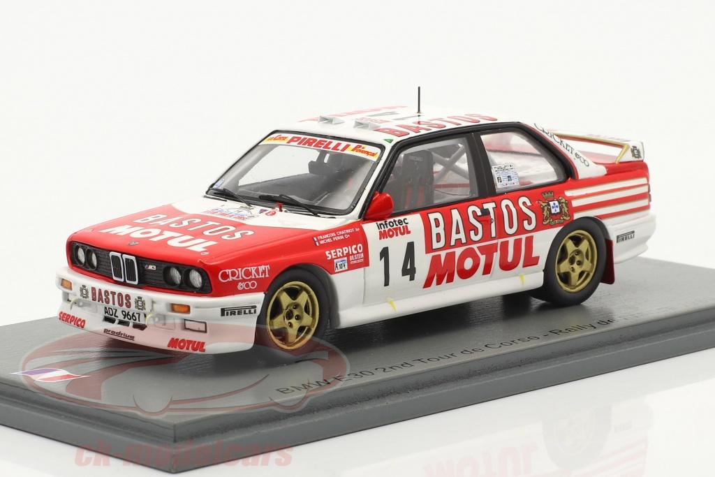 spark-1-43-bmw-m3-e30-no14-2-plads-rallye-tour-de-corse-1989-chatriot-perin-sf150/