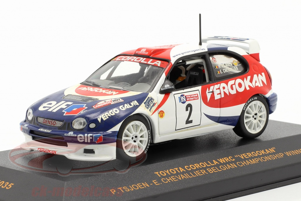 ixo-1-43-toyota-corolla-wrc-no2-winner-championship-belgium-2001-tsjoen-chevaillier-ram035/