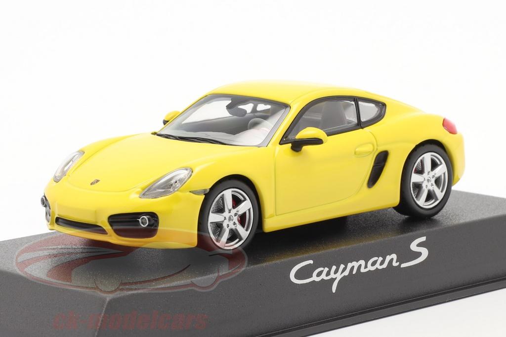 norev-1-43-porsche-cayman-s-981-annee-de-construction-2013-jaune-wap0200310d/
