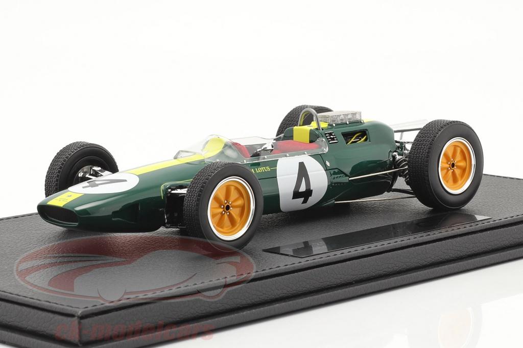 gp-replicas-1-18-jim-clark-lotus-25-no4-formel-1-verdensmester-1963-med-udstillingsvindue-gp056a/