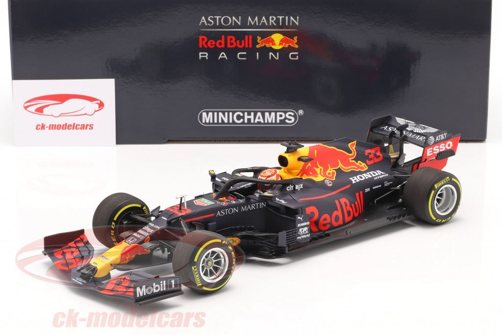 Minichamps 1:18 M. Verstappen Red Bull Racing RB16 #33 3rd Styrian ...