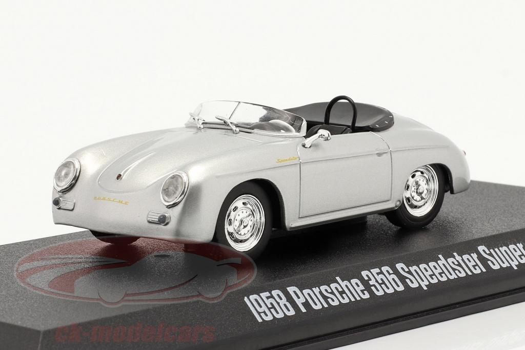 greenlight-1-43-porsche-356-speedster-super-anno-di-costruzione-1958-argento-metallico-86597/