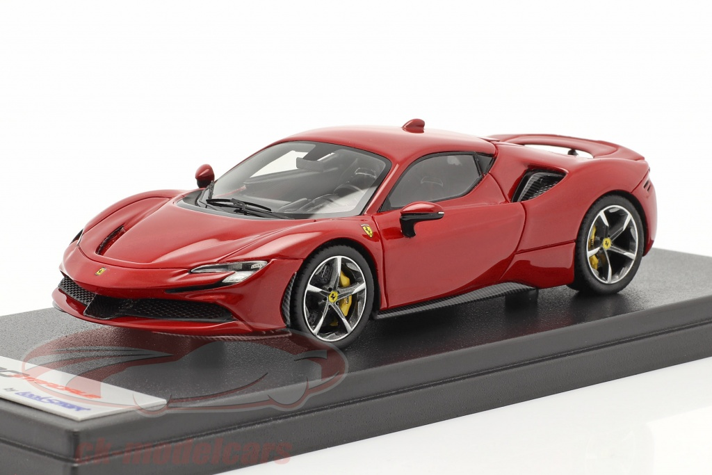 looksmart-1-43-ferrari-sf90-stradale-ano-de-construcao-2019-corsa-vermelho-metalico-ls504j/