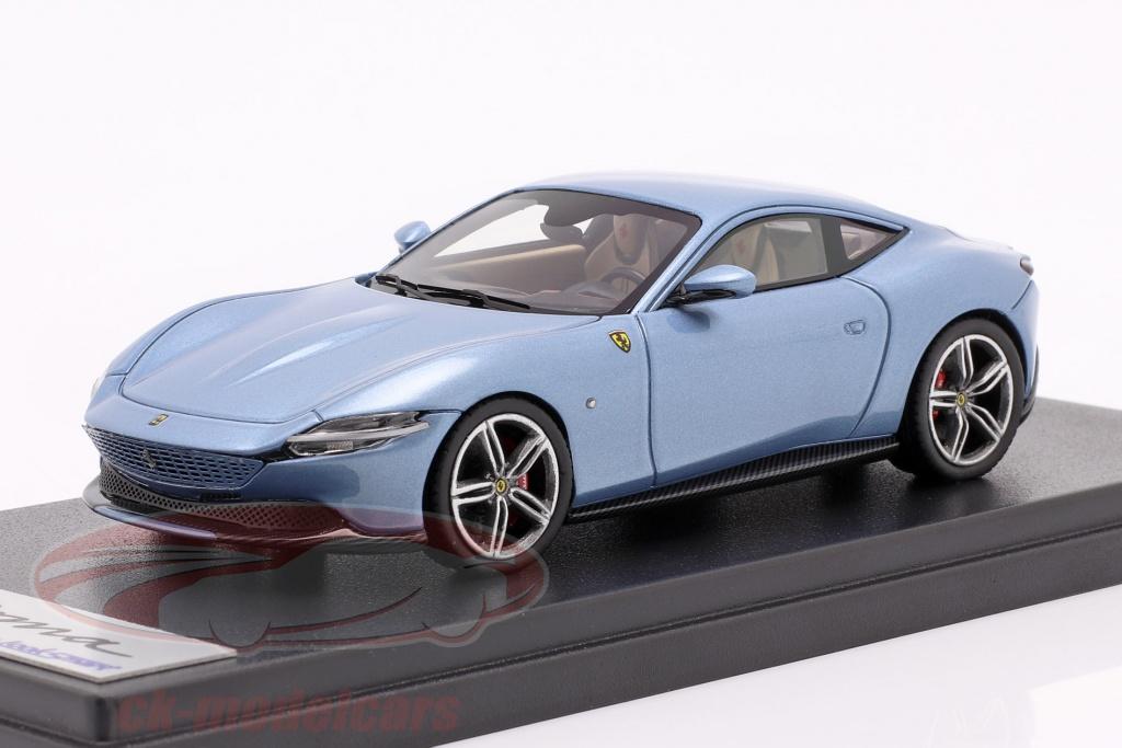 looksmart-1-43-ferrari-roma-ano-de-construcao-2020-california-azul-claro-metalico-ls508g/