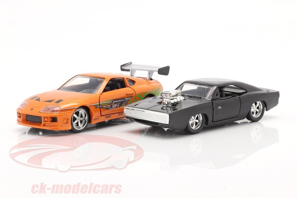 jadatoys-1-32-2-car-set-fast-furious-brians-toyota-supra-doms-dodge-charger-253204003/