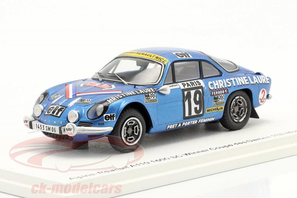 spark-1-43-alpine-renault-a110-1800-no-vinder-coupe-des-dames-rallye-monte-carlo-1976-s6116/