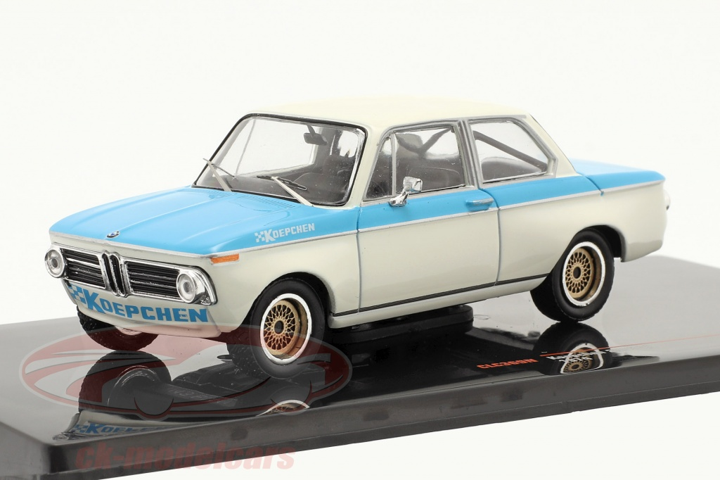 ixo-1-43-bmw-koepchen-2002-tii-baujahr-1974-weiss-blau-clc369n/