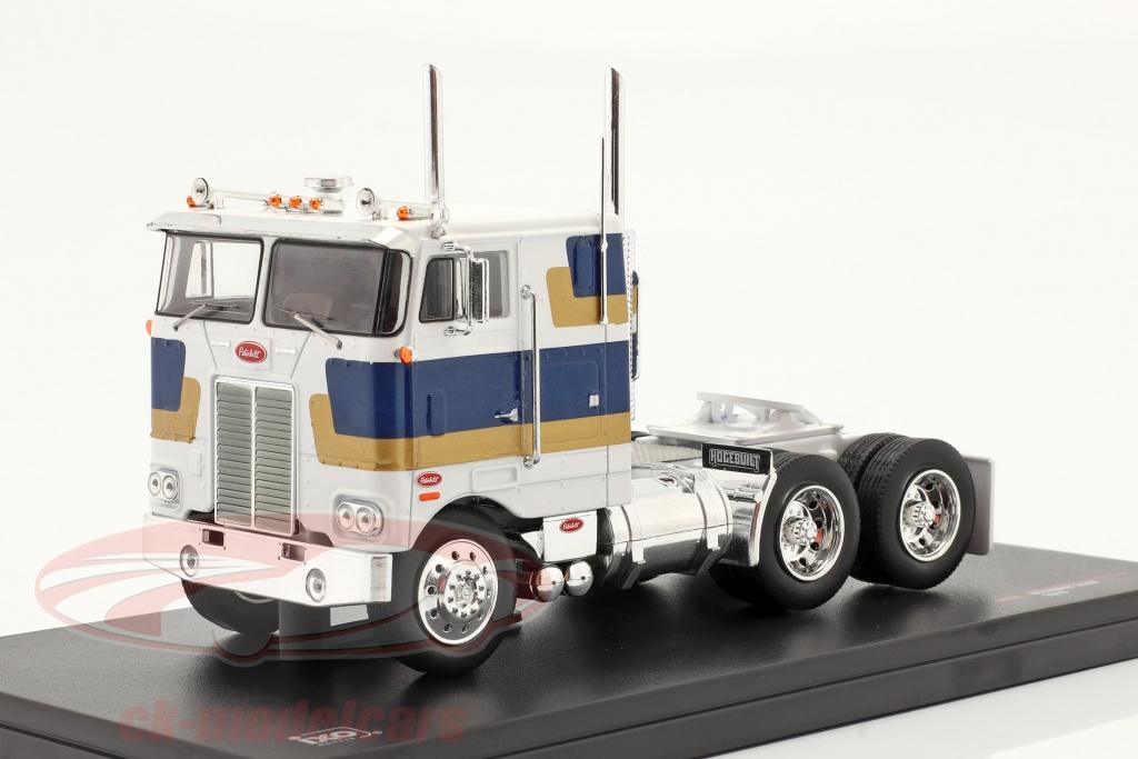 ixo-1-43-peterbilt-352-h-lastbil-1979-hvid-bl-guld-tr078/