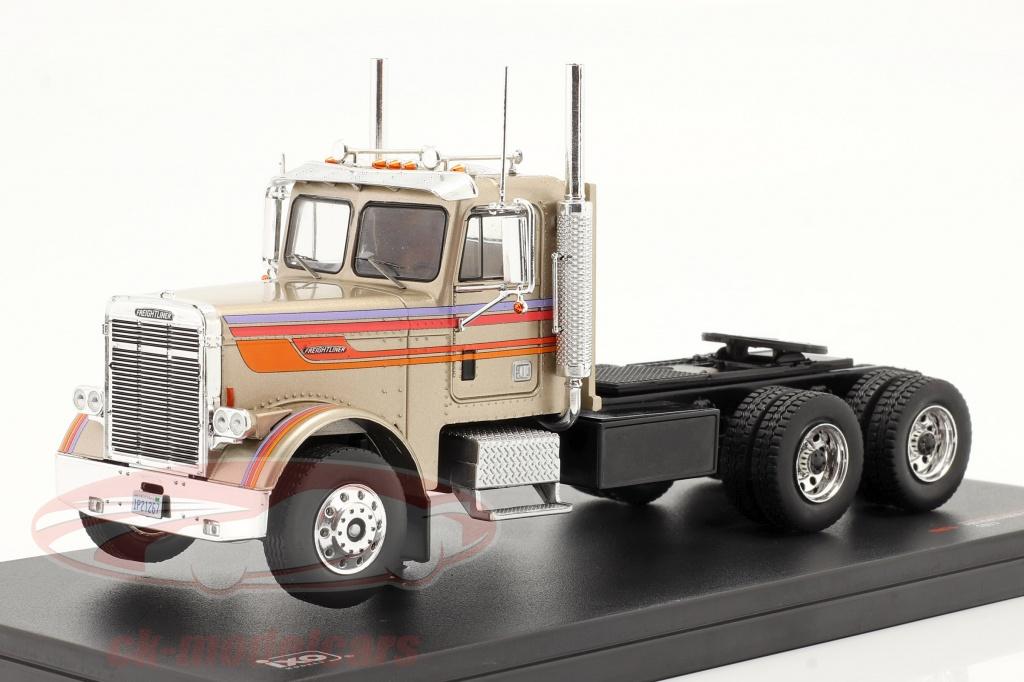 ixo-1-43-freightliner-flc-120-64-t-vrachtauto-1977-goud-beige-metalen-tr076/