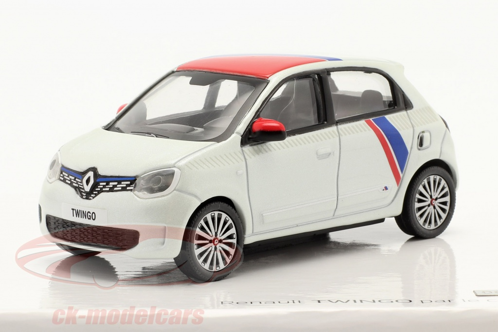 norev-1-43-renault-twingo-generation-3-by-le-coq-sportif-2019-white-red-blue-7711942517/