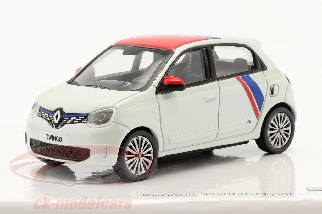 norev-1-43-renault-twingo-generazione-3-di-le-coq-sportif-2019-bianca-rosso-blu-7711942517/