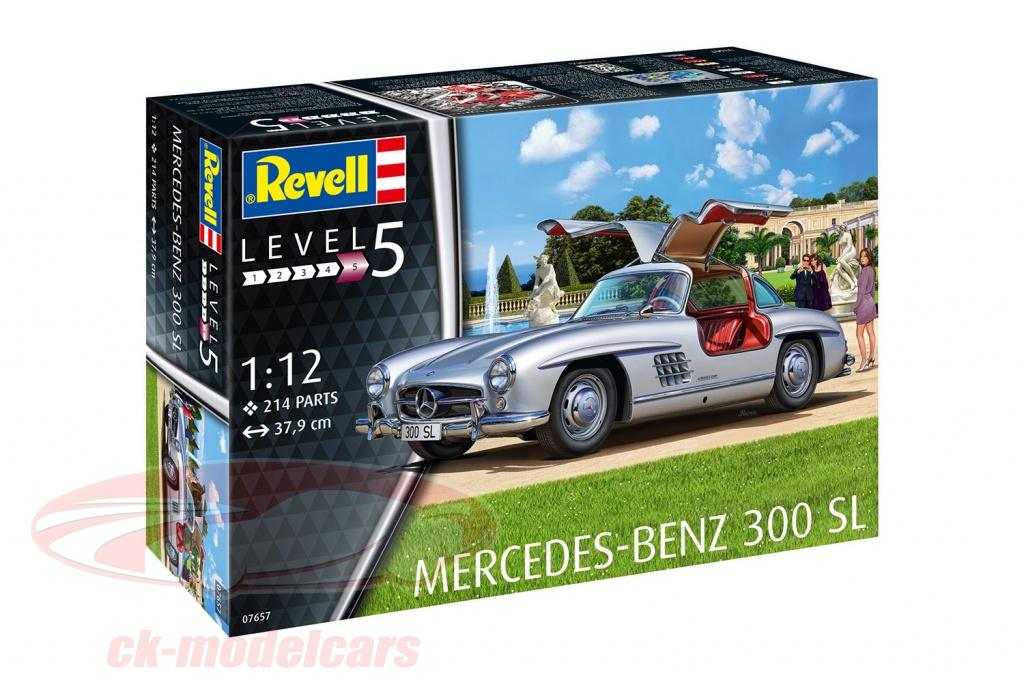 revell-1-12-mercedes-benz-300-sl-trousse-argent-07657/