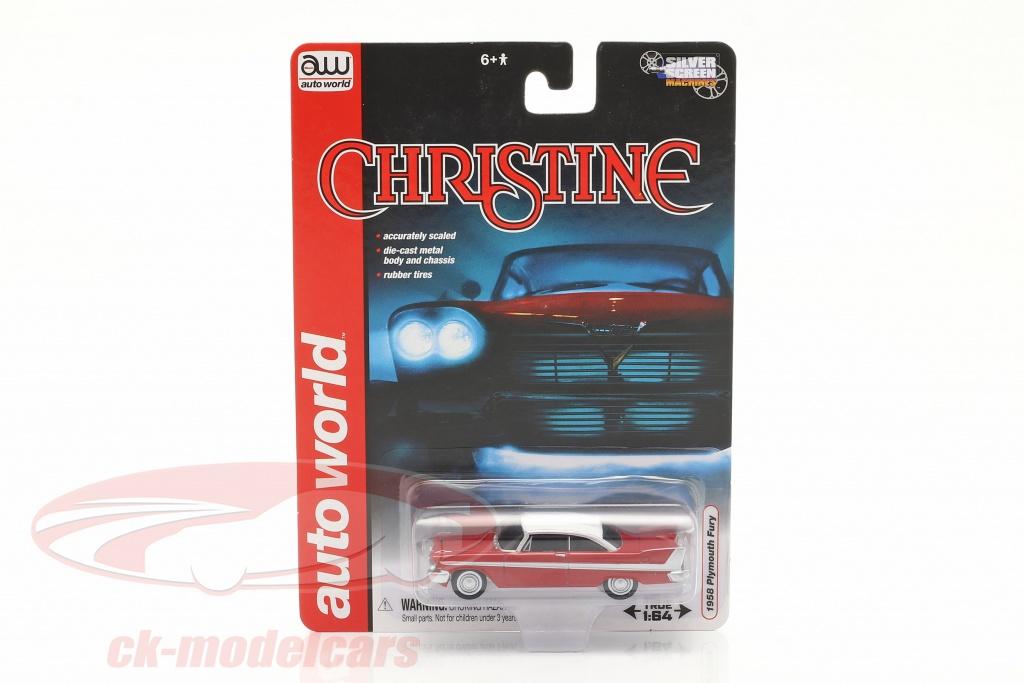 autoworld-1-64-plymouth-fury-filme-christine-1983-vermelho-branco-awss6401/