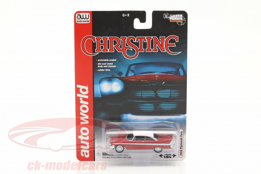 autoworld-1-64-plymouth-fury-movie-christine-1983-red-white-awss6401/