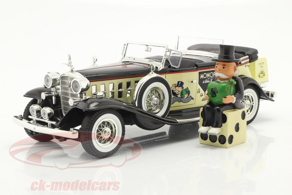 autoworld-1-18-cadillac-v16-sport-phaeton-year-1932-with-mr-monopoly-figure-awss127/